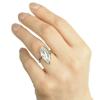 Strieborný prsteň zirkónový