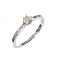 c15ff5071 Strieborný prsteň so zirkónmi