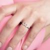 Strieborný prsteň labute so zirkónmi