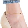 Strieborná pozlátená retiazka na nohu s príveskami 22 až 26cm