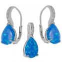 Strieborný set s modrým opálom