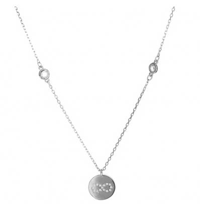 Strieborný náhrdelník nekonečno so zirkónmi 43 až 45cm