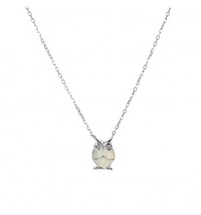 Strieborný náhrdelník sova 41 až 44cm