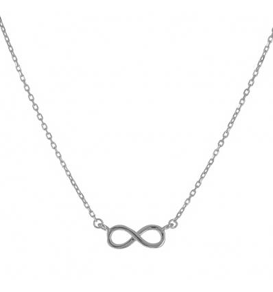 Strieborný náhrdelník nekonečno 43 až 46cm
