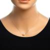 Strieborný náhrdelník s perlou 42 až 45cm