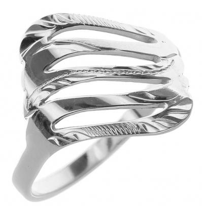 Strieborný prsteň s gravírom