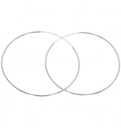 Strieborné náušnice kruhy 60 mm